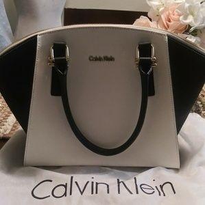 White & Black Calvin Klein Bag
